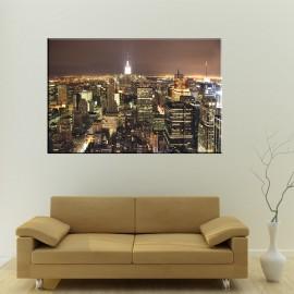 New York w nocy z lotu ptaka - obraz na ścianę nr 2506