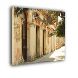 Śródziemnomorska uliczka - obraz na płótnie nr 2517