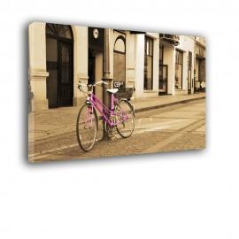 Różowy rower - obraz nowoczesny nr 2526