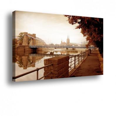 Bursztynowy most Grunwaldzki - obraz nowoczesny nr 10012
