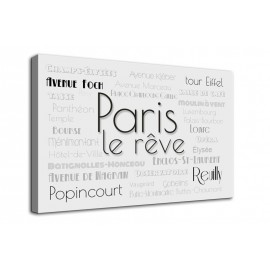 Paryż napisy - obraz nowoczesny nr 10019