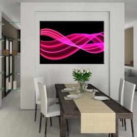 Różowa wstęga - obraz nowoczesny abstrakcja nr 2067