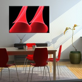 Różowe dzwony - obraz nowoczesny abstrakcja nr 2072