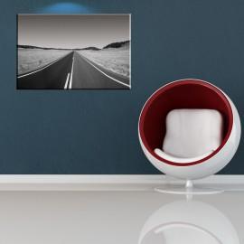 Pusta droga - obraz w kolorze czarno białym nr 2074