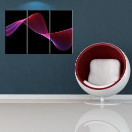 Czerwona szarfa - obraz na płótnie - tryptyk nr 2601