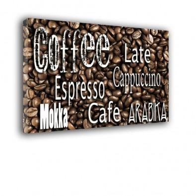 Kawa napisy - obraz na ścianę do kuchni nr 2089