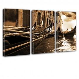 Gondole - obraz na płótnie tryptyk nr 2607