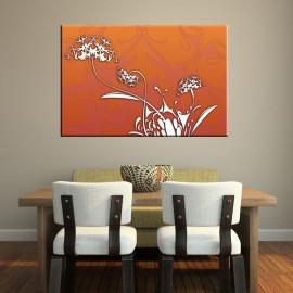 Pomarańczowy dmuchawiec - obraz na płótnie nr 2118