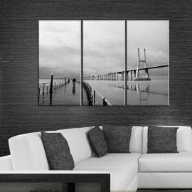 Most Vasco da Gama - obraz na płótnie - tryptyk nr 2611
