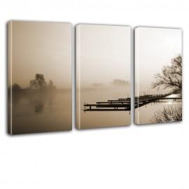Pomost we mgle - obraz na płótnie - tryptyk nr 2614