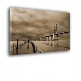 Most w sepii - obraz nowoczesny nr 2147
