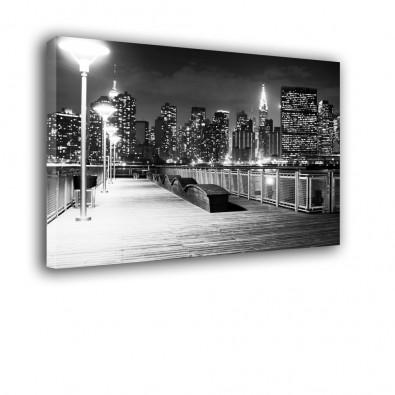 Czarno biały New York nocą - obraz na ścianę nr 2167