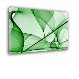 Zielona zasłona - obraz nowoczesny abstrakcja nr 2180