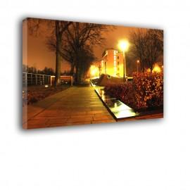 Promenada Wrocław nocą - obraz na ścianę nr 2193