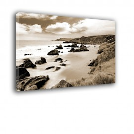 Skalisty brzeg morza - obraz na płótnie nr 2196