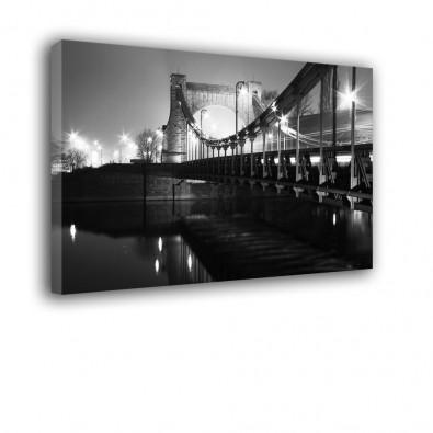 Czarno biały most Grunwaldzki - obraz na płótnie nr 2197
