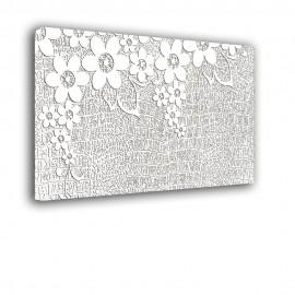 Białe kwiaty | obraz abstrakcja nr 2199