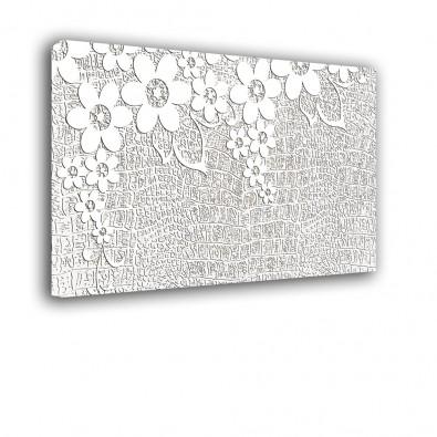 Białe kwiaty   obraz abstrakcja nr 2199