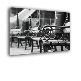 Ławeczka - czarno biały obraz nr 2207