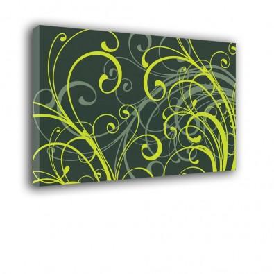 Zielona flora - obraz nowoczesny abstrakcja nr 2209