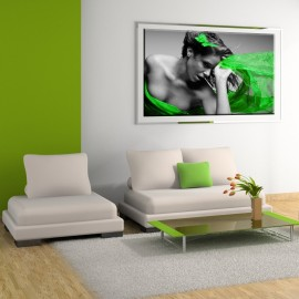 Kobieta z zielonym szalem - obraz nowoczesny nr 2211