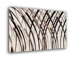 Beżowe i brązowe linie | obraz abstrakcja nr 2212