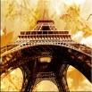 Wieżą Eiffla retro - obraz na płótnie nr 2217
