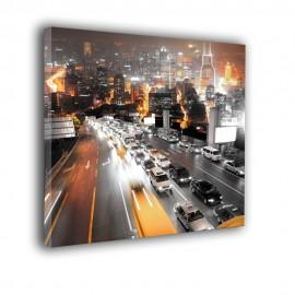 Pomarańczowe miasto - obraz nowoczesny nr 2258