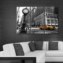 Taxi New York - obraz na płótnie tryptyk nr 2622