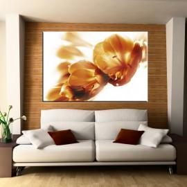 Brązowe lilie - obraz nowoczesny kwiay nr 2272
