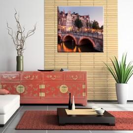 Stolica Holandii Amsterdam - obraz na płótnie nr 2306