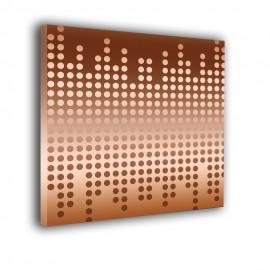 Orzeszkowe kropki - obraz nowoczesny abstrakcja nr 2310