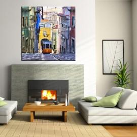 Tramwaj uliczce Lizbony - obraz na płótnie nr 2332