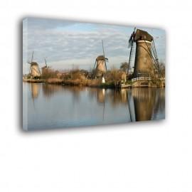 Wiatraki Holandia - obraz na płótnie nr 2335