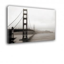 Golden Gate we mgle | obraz nowoczesny nr 2356