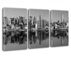 Nowy Jork czarno biały - obraz na płótnie tryptyk nr 2629