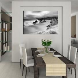 Czarno biały brzeg morza - obraz na płótnie nr 2361