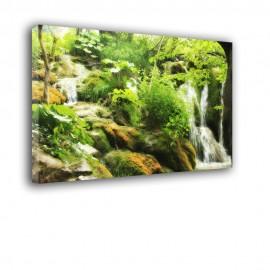 Wodospad na łące - obraz nowoczesny nr 2397