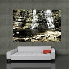 Kamienny wodospad - obraz nowoczesny krajobraz nr 2041