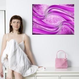 Różowy dym - obraz nowoczesny abstrakcja nr 2480