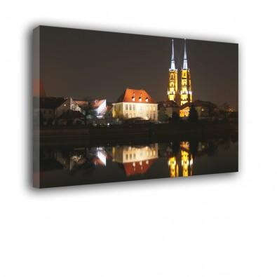 Katedra Wrocławska w nocy - obraz nowoczesny nr 2496