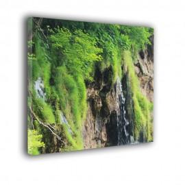 Mały wodospad - obraz nowoczesny krajobraz nr 2503