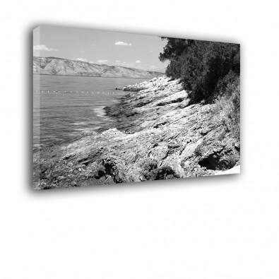 Skalny klif - obraz czarno biały na płótnie nr 2505