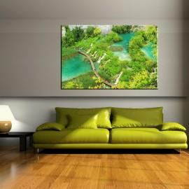 Plitwickie jeziora - obraz nowoczesny krajobraz nr 2507