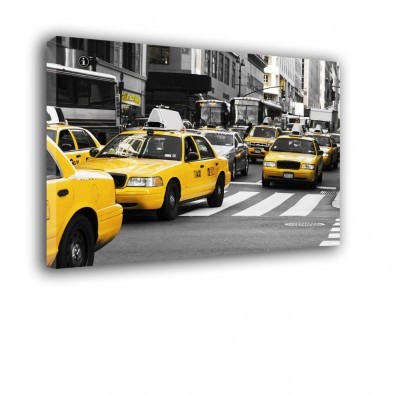 Żółte TAXI - obraz na ścianę do salonu nr 2073