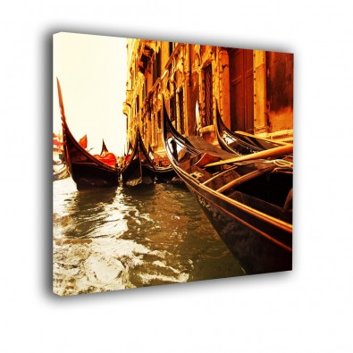 Weneckie łodzie - obraz na ścianę do salonu nr 2024