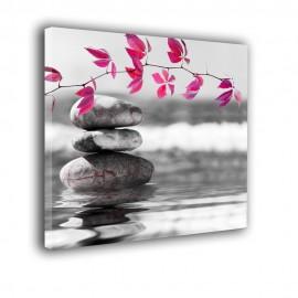 Kamienie gałązka i morze - obraz na ścianę do łazienki nr 2036
