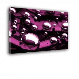 Metaliczne kulki - obraz nowoczesny abstrakcja nr 2081