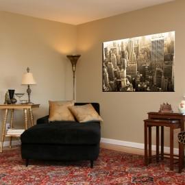 New York z lotu ptaka - obraz na ścianę do sypialni nr 2082