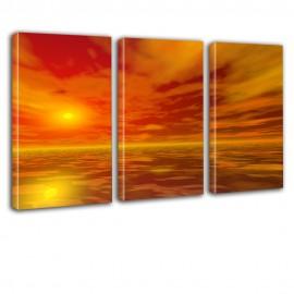 Zachód słońca - obraz na płótnie - tryptyk nr 2602